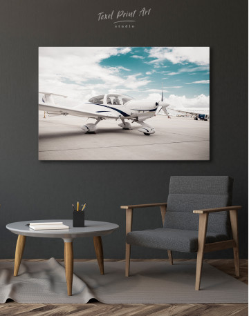Propeller Airplane Airport Canvas Wall Art - image 4