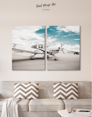 Propeller Airplane Airport Canvas Wall Art - image 10