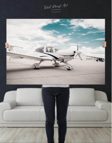 Propeller Airplane Airport Canvas Wall Art - image 9