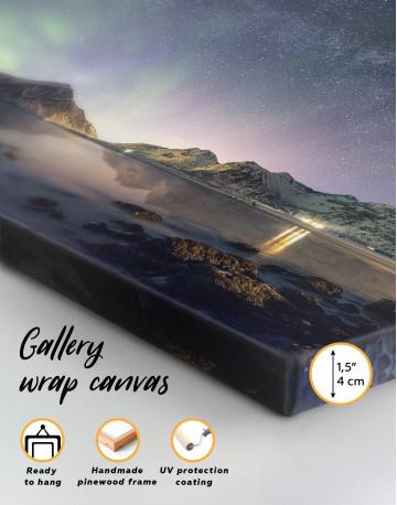 Polar Light Mountain Landscape Canvas Wall Art - image 2