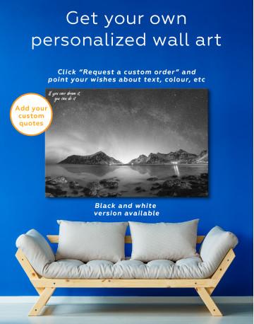 Polar Light Mountain Landscape Canvas Wall Art - image 3