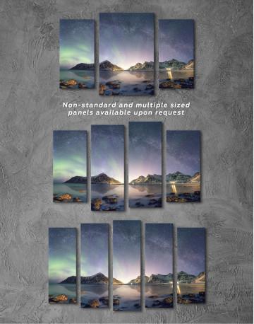Polar Light Mountain Landscape Canvas Wall Art - image 5