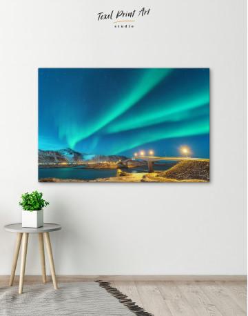 Aurora Borealis Over Mountains Canvas Wall Art - image 5