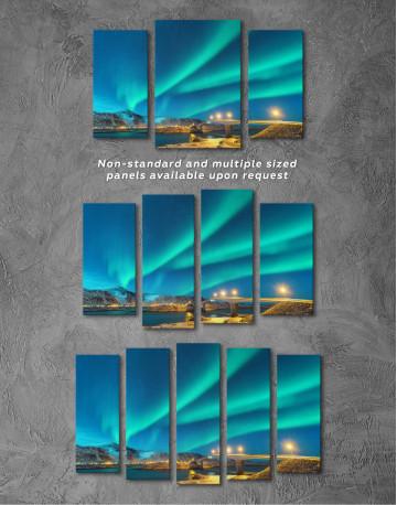 Aurora Borealis Over Mountains Canvas Wall Art - image 4
