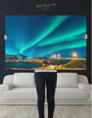 Aurora Borealis Over Mountains Canvas Wall Art - image 8