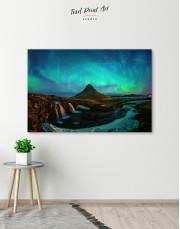 Kirkjufell  Northern Lights Landscape Canvas Wall Art - Image 5