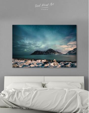 Nordic Polar Light Landscape Canvas Wall Art