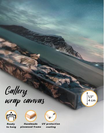 Nordic Polar Light Landscape Canvas Wall Art - image 3