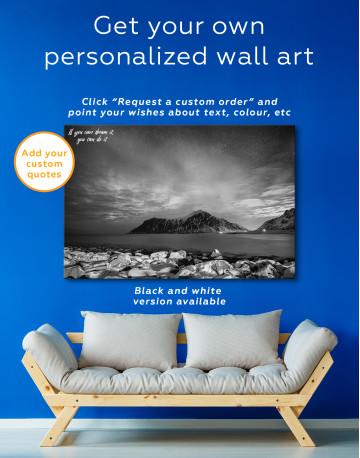 Nordic Polar Light Landscape Canvas Wall Art - image 4