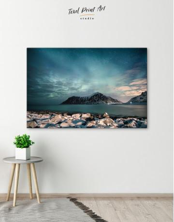Nordic Polar Light Landscape Canvas Wall Art - image 5