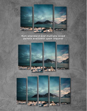 Nordic Polar Light Landscape Canvas Wall Art - image 6
