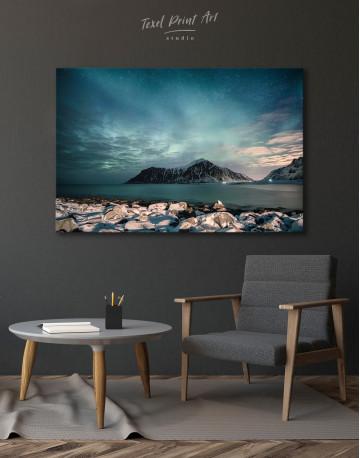 Nordic Polar Light Landscape Canvas Wall Art - image 7