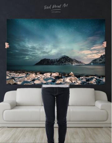 Nordic Polar Light Landscape Canvas Wall Art - image 1