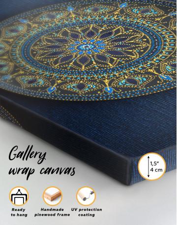 Dot Mandala Canvas Wall Art - image 2