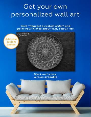 Dot Mandala Canvas Wall Art - image 3