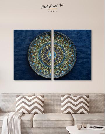 Dot Mandala Canvas Wall Art - image 1