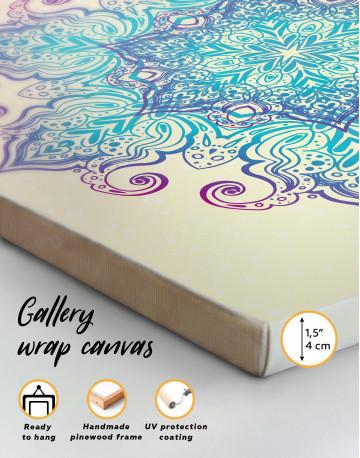 Blue and Purple Mandala Canvas Wall Art - image 5