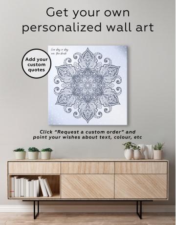 Blue and Purple Mandala Canvas Wall Art - image 1