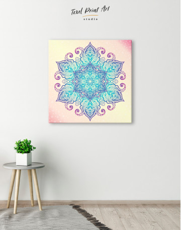 Blue and Purple Mandala Canvas Wall Art - image 3