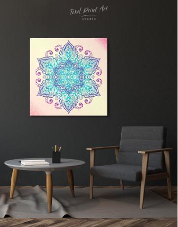 Blue and Purple Mandala Canvas Wall Art - image 4