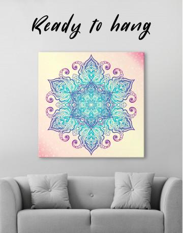 Blue and Purple Mandala Canvas Wall Art