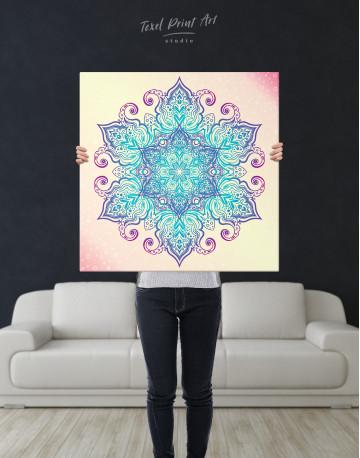 Blue and Purple Mandala Canvas Wall Art - image 6