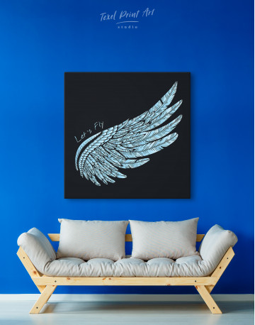 Let's Fly Wing Canvas Wall Art - image 4