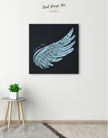 Let's Fly Wing Canvas Wall Art