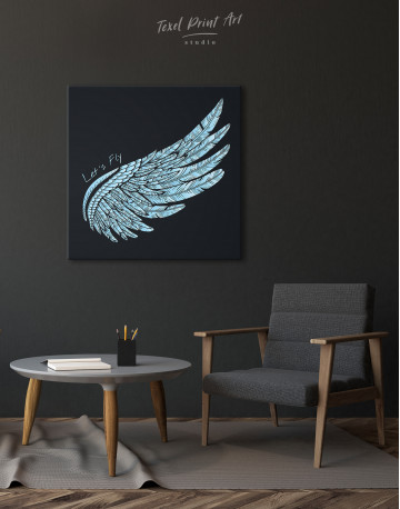 Let's Fly Wing Canvas Wall Art - image 1