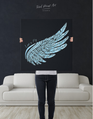 Let's Fly Wing Canvas Wall Art - image 2