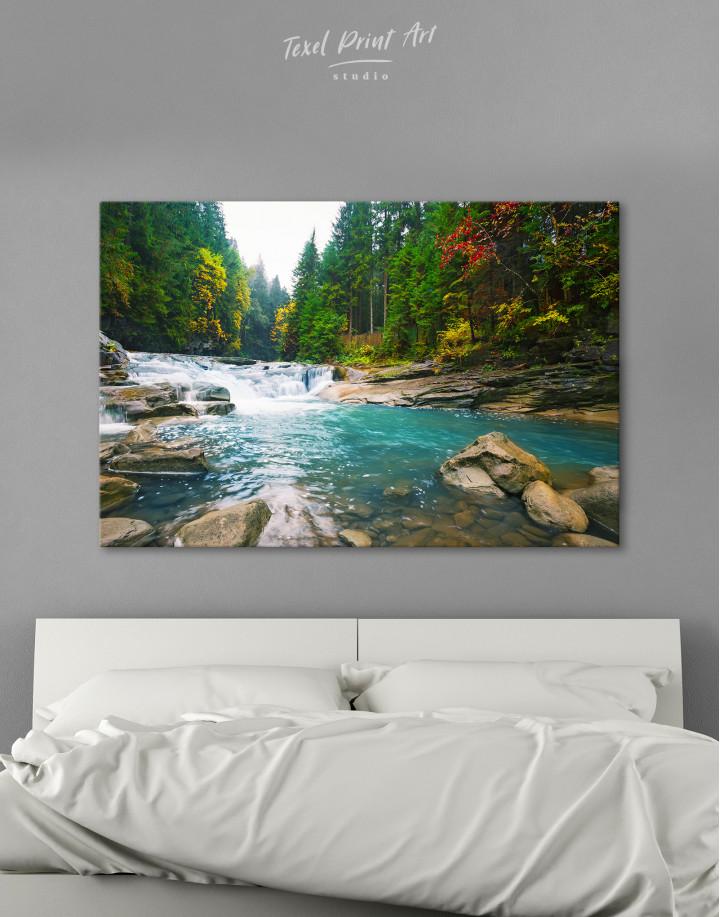 Mountain River Waterfall Canvas Wall Art