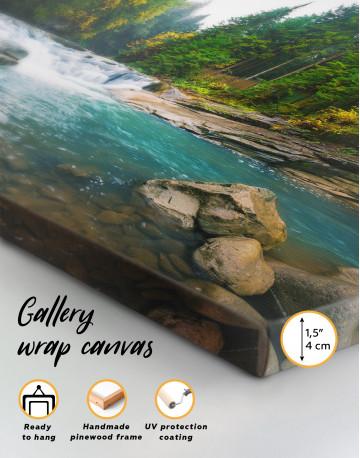 Mountain River Waterfall Canvas Wall Art - image 2