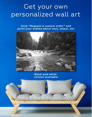 Mountain River Waterfall Canvas Wall Art - image 3
