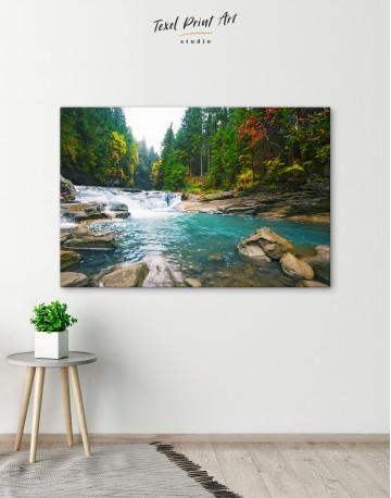 Mountain River Waterfall Canvas Wall Art - image 4