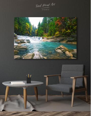 Mountain River Waterfall Canvas Wall Art - image 6