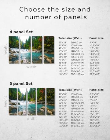 Mountain River Waterfall Canvas Wall Art - image 10