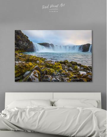 Bottom Godafoss Iceland Waterfall Canvas Wall Art