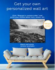 Bottom Godafoss Iceland Waterfall Canvas Wall Art - Image 6