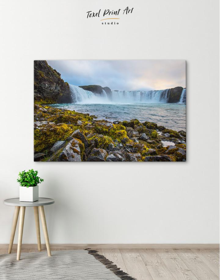 Bottom Godafoss Iceland Waterfall Canvas Wall Art - Image 5