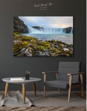 Bottom Godafoss Iceland Waterfall Canvas Wall Art - Image 3