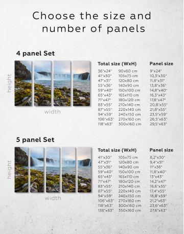 Bottom Godafoss Iceland Waterfall Canvas Wall Art - image 1