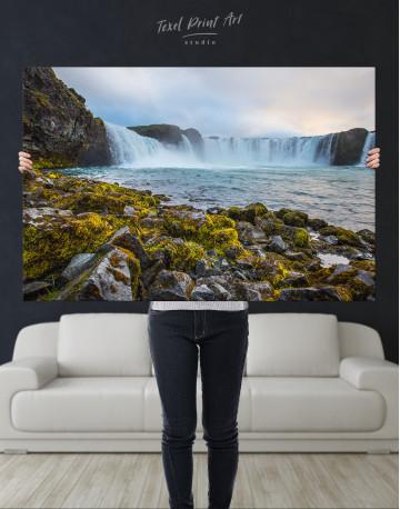 Bottom Godafoss Iceland Waterfall Canvas Wall Art - image 9