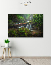 Forest Waterfall Scene Canvas Wall Art - Image 6