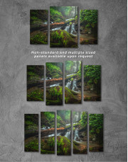 Forest Waterfall Scene Canvas Wall Art - Image 5