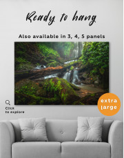 Forest Waterfall Scene Canvas Wall Art - Image 3