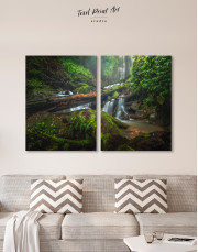 Forest Waterfall Scene Canvas Wall Art - Image 10