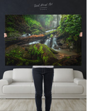 Forest Waterfall Scene Canvas Wall Art - Image 9