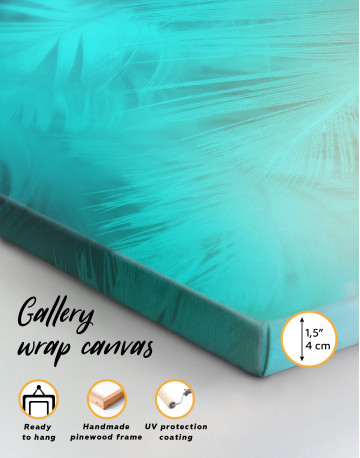 Light Teal and Orange Feather Canvas Wall Art - image 8