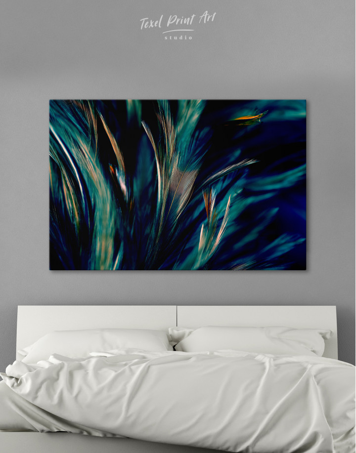 Colorful Chicken Feathers Canvas Wall Art