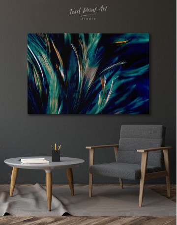 Colorful Chicken Feathers Canvas Wall Art - image 6